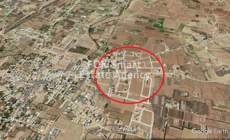 2 Connected Plots (with the one Corner) of 1100sqm in Psimolophou, Nicosia