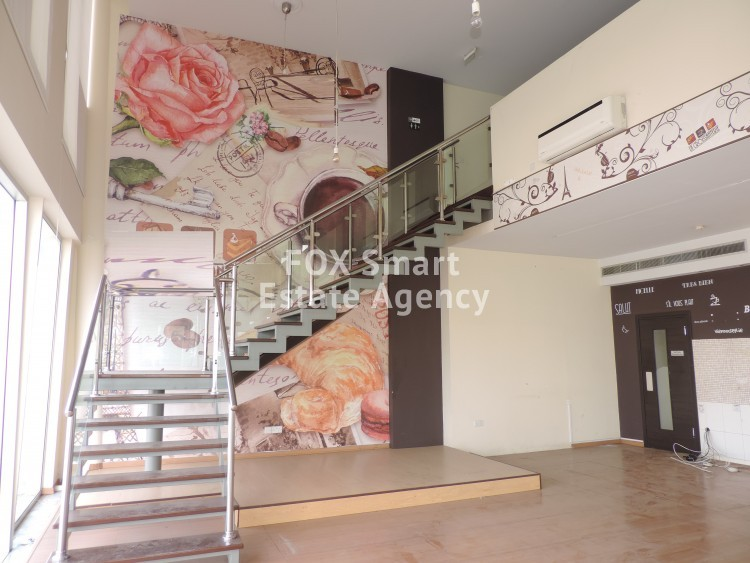 Privileged Ground Floor Shop 250sq.m plus 120sq.m mezzanine in Lakatameia, Nicosia