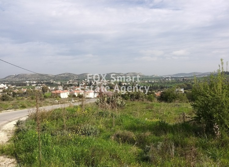 Panoramic view residential plot for sale in Alambra, Nicosia.