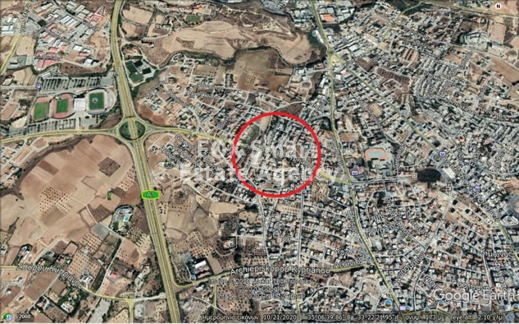 Corner Plot 554sqm with 100% building density/3 floors in Latsia (opposite GSP), Nicosia