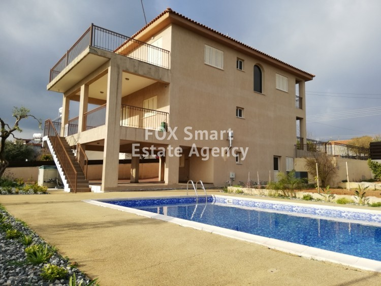 To Rent 4 Bedroom Detached House in Pano kivides, Limassol