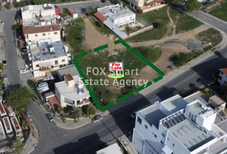 For Sale Commercial Plot 976sq.m in Pallouriotissa, Nicosia