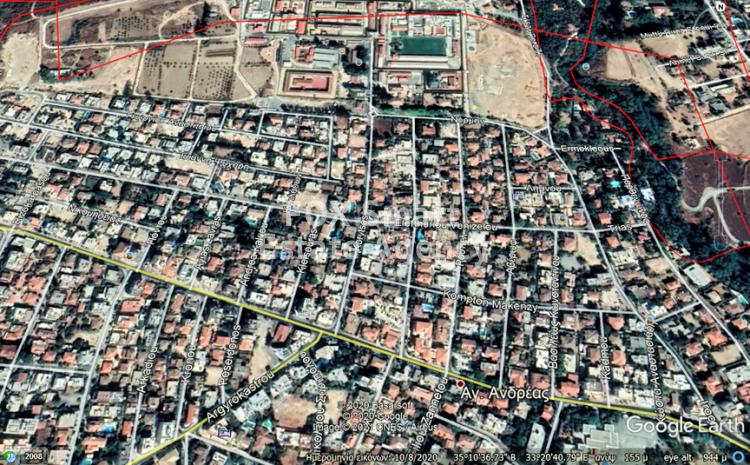 Elite Corner Residential Plot 616sqm (80% density) in Agios Andreas, Nicosia