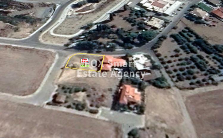 For Sale Corner Plot 550sq.m in Dali, Nicosia