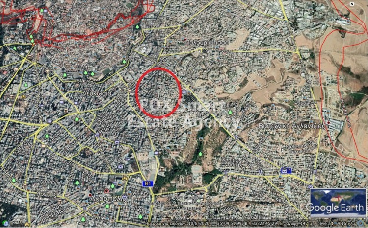 Top Location Plot 1260sqm (140% density/4 floors) in Lykavitos, Nicosia
