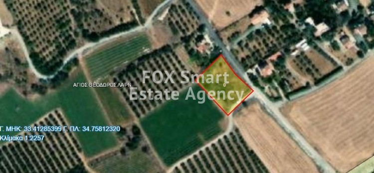 Residential land in Agios Theodoros Larnakas, 300 metres from the beach